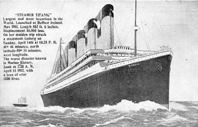 shi002026 - Titanic Ship Ships Postcard Postcards