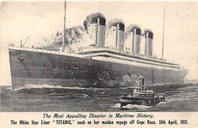 shi002033 - White Star Liner, Titanic Ship Ships Postcard Postcards