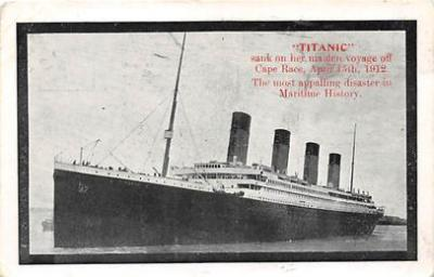 shi002034 - Titanic Ship Ships Postcard Postcards