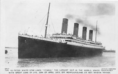 shi002040 - Titanic Ship Ships Postcard Postcards