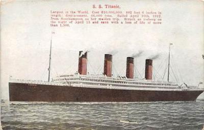 shi002053 - Titanic Ship Ships Postcard Postcards