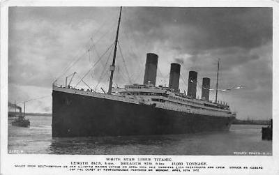 shi002063 - Titanic Ship Ships Postcard Postcards