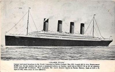 shi002082 - Titanic Ship Postcard Postcards