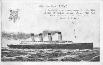 shi002085 - Titanic Ship Postcard Postcards