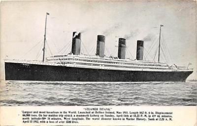 shi002093 - Titanic Ship Postcard Postcards