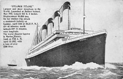 shi002096 - Titanic Ship Postcard Postcards