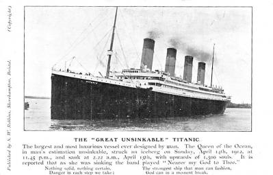 shi002118 - The Great Unsinkable Titanic Ship Postcard Postcards