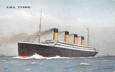 shi002140 - R.M.S. Titanic Ship Shps, Ocean Liners,  Postcard Postcards