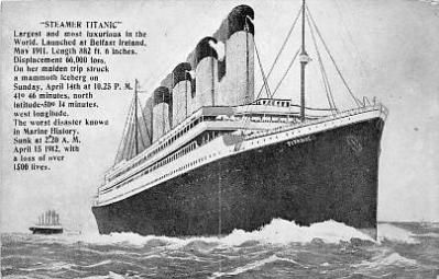 shi002148 - 1500 Lives Titanic Ship Post Card Postcards