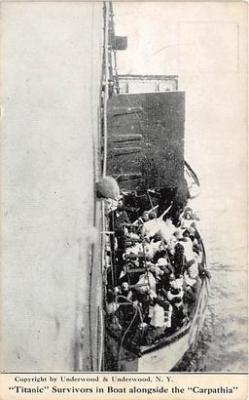 shi002154 - Carpathia Rescue Titanic Ship Post Card Postcards