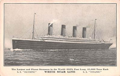 shi002159 - Titanic Ship Post Card Postcards