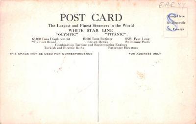 shi002159 - Titanic Ship Post Card Postcards  back