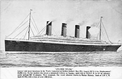 shi002164 - 1500 Lives Titanic Ship Old Vintage Antique Postcard Post Cards