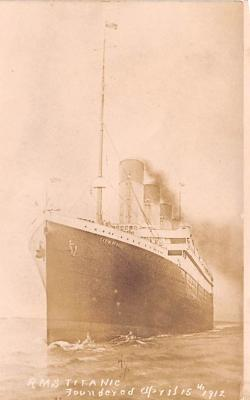 shi002202 - Titanic Ship Post Card Old Vintage Antique
