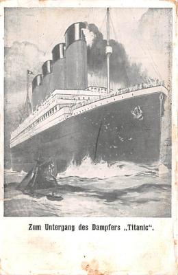 shi002204 - Titanic Ship Post Card Old Vintage Antique