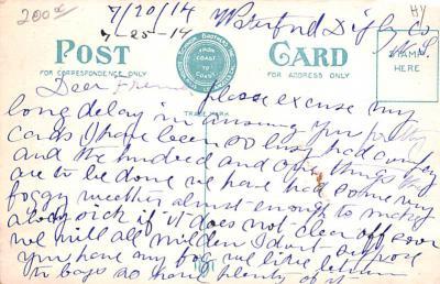 shi002208 - Titanic Ship Post Card Old Vintage Antique  back