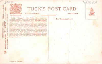 shi002214 - Titanic Ship Post Card Old Vintage Antique  back