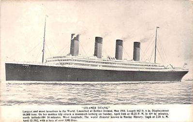 shi002216 - Titanic Ship Post Card Old Vintage Antique