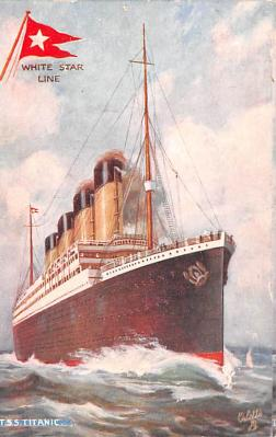 shi002220 - Titanic Ship Post Card Old Vintage Antique
