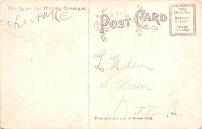 shi002222 - Titanic Ship Post Card Old Vintage Antique  back