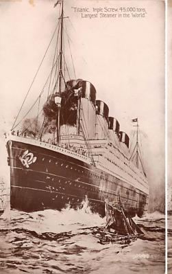 shi002224 - Titanic Ship Post Card Old Vintage Antique