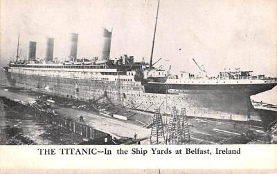 shi002228 - Titanic Ship Post Card Old Vintage Antique