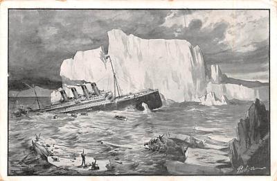 shi002244 - Titanic Ship Post Card Old Vintage Antique