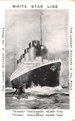 shi002248 - Titanic Ship Post Card Old Vintage Antique