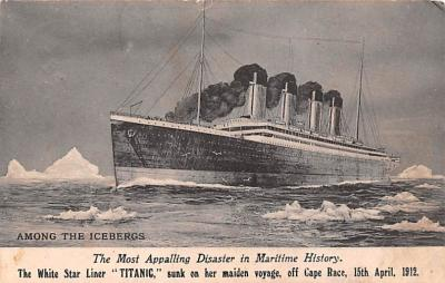 shi002250 - Titanic Ship Post Card Old Vintage Antique