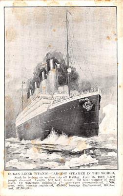 shi002258 - Titanic Ship Post Card Old Vintage Antique