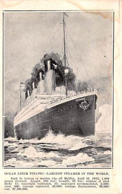 shi002260 - Titanic Ship Post Card Old Vintage Antique