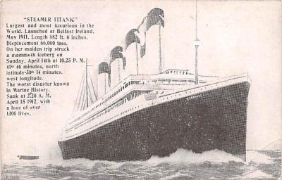 shi002266 - Titanic Ship Post Card Old Vintage Antique