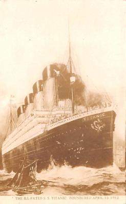 shi002286 - Titanic Ship Post Card Old Vintage Antique