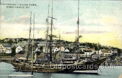 shi003057 - Italian Bark, Vinalhaven, ME Military Ship Ships Poscard Postcards