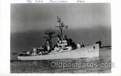 shi003115 - DD 944 Mullinnix 1960, Military Ship Ships Poscard Postcards
