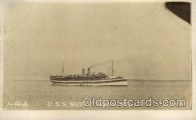 shi003186 - U.S.S. Mercy, Hospital Ship Military Ship, Ships Postcard Postcards