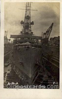 shi003199 - U.S.S. Frederick in Dry Dock Military Ship, Ships Postcard Postcards