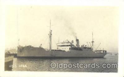 shi003202 - U.S.S. Vega, Real Photo Military Ship Ships Postcard Postcards