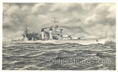 shi003204 - U.S.S.San Francisco, Real Photo Military Ship Ships Postcard Postcards