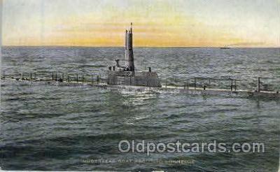 shi003211 - Underseas Boat Military Ship, Ships, Postcard Postcards