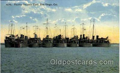 shi003219 - Pacific Torpedo Fleet, San Diego, CA, USA Military Ship, Ships, Postcard Postcards