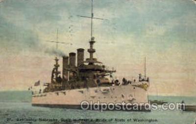 shi003227 - Battleship Nebraska, Seattle, WA, USA Military Ship, Ships, Postcard Postcards