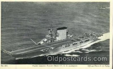 shi003239 - Flight Deck, USS Lexington Military Ship, Ships, Postcard Postcards