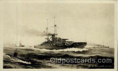shi003245 - US Atlantic Fleet Military Ship, Ships, Postcard Postcards
