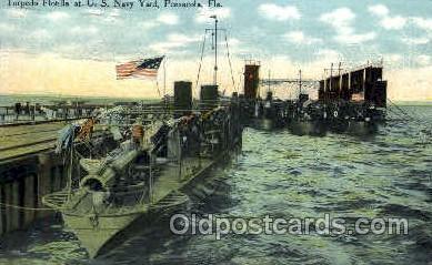 shi003256 - Torpedo Flotilla, Pensacola, FL, USA Military Ship, Ships, Postcard Postcards
