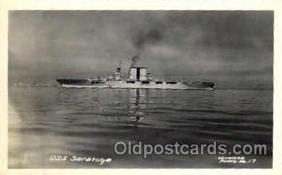 shi003276 - USS Saratoga Military Ship, Ships, Postcard Postcards