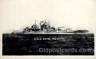 shi003277 - USS New Mexico Military Ship, Ships, Postcard Postcards