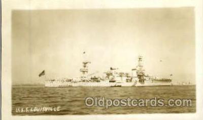 shi003297 - USS Louisville Military Ship, Ships, Postcard Postcards
