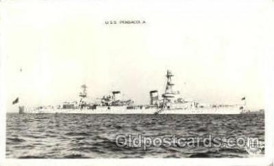 shi003309 - USS Pensacola Military Ship, Ships, Postcard Postcards