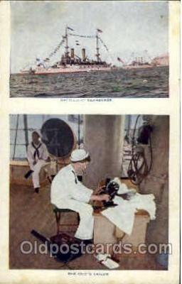 shi003322 - Battleship Kearsarge Military Ship, Ships, Postcard Postcards